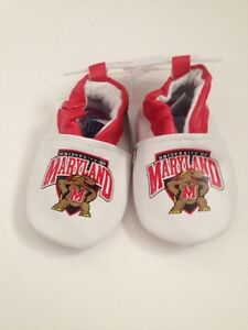 NCAA Maryland Terrapins Terps Baby Boy Girl Booties Shoes Size 3 6 9 12 Months