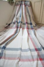 NEXT NATURAL NAVY BLUE RED CHECKED COTTON CURTAINS,66WX72D,GINGHAM,NAUTICAL,1OF2