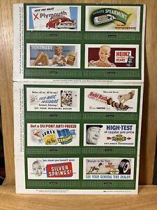 Lionel Train Miniature Full Color Billboards by Standard Outdoor Ads Uncut Sheet