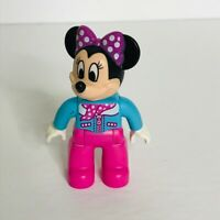 """Lego Duplo 3"""" Replacement Figure Minnie Mouse Blue Pink"""