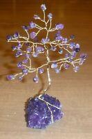 6 inch-Beautiful AMETHYST gem tree on a Dark Purple AMETHYST crystal cluster