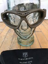 British Army Issue Revision Bullet Ant Tan Beige Goggles With Black lenses