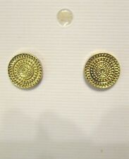 """NWT STYLE & Co. Gold Tone Round Pierced Earrings, 1/2"""" Diameter Posts,Macy's $16"""
