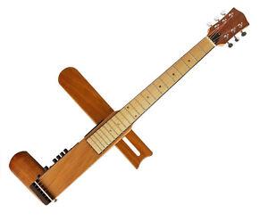 Cross Guitar 2.0: Foldable Acoustic Steel-String Electric Travel Guitar + Bag