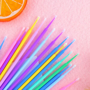 100x Disposable Cotton Swabs Micro Applicator Brush Sticks Eyelash Extension 77