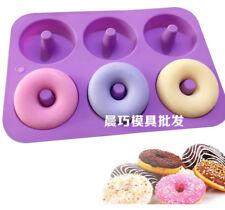 6 Cavities Doughnut Cake Mold Soap Mold Silicone Mould Cupcake Baking Tool