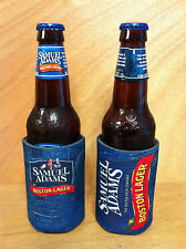 Samuel Sam Adams Boston Lager Beer Bottle / Can Koozie Cooler - New - Set of 2