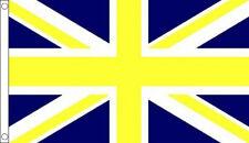 BLUE and YELLOW UNION JACK FLAG 5' x 3' UJ UK Flags