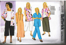 Shirt Top Tunic A-Line Dress Skirt Crop Pants Sewing Pattern Plus Size 28 30 32