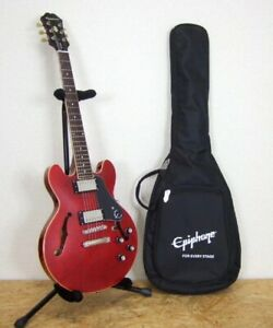 Epiphone ES-339 CH Semi Acoustic Guitar Electric Guitar w/ Soft Case From Japan