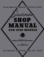 1939 Studebaker Shop Service Repair Manual Engine Drivetrain Electrical Book OEM