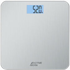 Active Era® Ultra Slim Digital Bathroom Scales - Stainless Steel - Body Weight