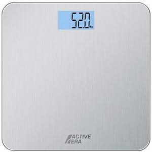 Active Era® Ultra Slim Digital Bathroom Scales - Stainless Steel - Body Weight