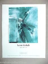 Leon Golub Art Gallery Exhibit PRINT AD - 2003