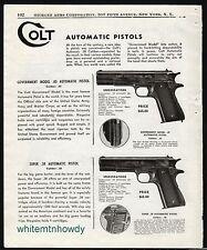 1949 COLT Government Model .45 and Super 38 Automatic Pistol AD