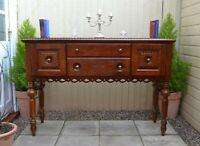 Vintage Broyhill USA Sideboard Mahogany Dresser Credenza Cabinet Quality Carved
