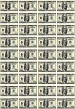 36 Dollar Bill Money Theme Edible Wafer Paper Cupcake Toppers