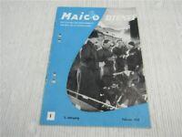originaler Maico Dienst Werkzeitschrift 2 1952 Geländesport IFMA 1951