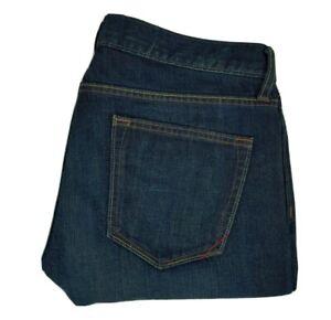 Banana Republic Men's Jeans 33x30 Vintage Straight Fit Blue Dirty Wash Denim