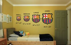 FC Barcelona Logo Crest Football Soccer Vinyl Wall Decal Car Window Sticker
