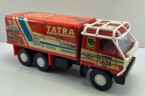 ORIGINAL RARE  Vintage 1980 Tatra Paris Rally Tin / Plastic Toy Truck Czech Made