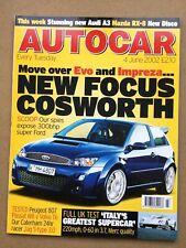 Autocar Magazine - 4 June 2002 - Pagani Zonda Passat W8 v Volvo S80 T6 206CC