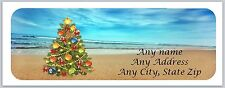 30 Personalized Address Labels Scenic Beach Christmas Buy 3 get 1 free (ac 523)