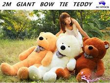 200cm Giant Huge Teddy Bear Cute Lovely Bow Tie Stuffed Soft Plush Animal Toy