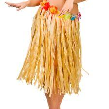 Natural Hawaiian Hula Skirt 60cm Fancy Dress Accessory