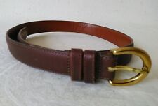 ac910d3a78b7 COACH Mahogany leather women s belt with Solid Brass buckle Size S Made in  USA
