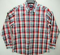 Wrangler Men's Size XL Long Sleeve Pearl Snap Western Shirt Plaid