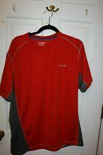 Columbia Omni Shade Pullover Mens Short Sleeve Shirt Red / Gray Xl Euc