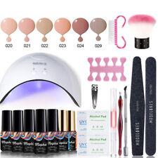 16W UV LED Nail Dryer Lamp+ 6 Colours Nail Gel Polish Top Base Coat Starter Kit