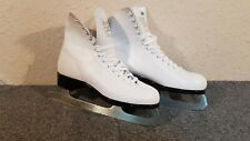 Lange Aries Leather Ice Figure Skates Womens U.S. size 8 (Okeb-02-074)
