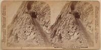 Monte Pilato Funicolare Suisse Foto Stereo Vintage Albumina 1897