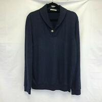 Marine Layer Sweater Size S Small Navy Blue Cowlneck Made California Sweatshirt