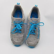 Skechers Bobs Womens Gray And Blue Sports Athletic 31370 Shoes Size US 11,EUR 41