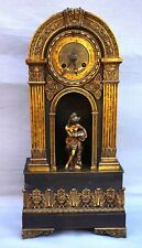 French Empire Ormolu Bronze Mantle Clock Paris Movement Early 19th C