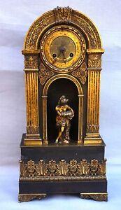 French Empire Ormolu Bronze Mantle Clock Paris Movement Early 19th C
