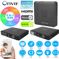 4CH/8CH 1080P HD ONVIF AHD CVI TVI DVR NVR 5in1 Security Realtime Video Recorder