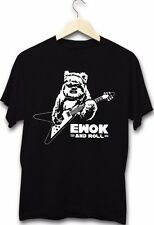 Star Wars Inspired Ewok And Roll Funny Metal Rock Music Guitar Jedi T-Shirt