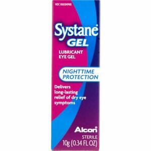 Systane Gel, Lubricant Eye Gel Nighttime Protection, 10g (0.34 FL OZ) (Exp 2022)