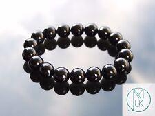 Black Onyx 10mm Natural Gemstone Bracelet 6-9'' Elasticated Healing Stone Chakra