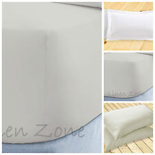 "EXTRA DEEP 16""/40CM FITTED BED SHEETS NON IRON HOTEL QUALITY SINGLE DOUBLE KING"