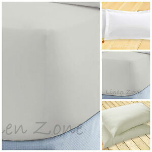 """EXTRA DEEP 16""""/40CM FITTED BED SHEETS NON IRON HOTEL QUALITY SINGLE DOUBLE KING"""
