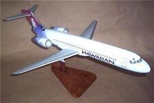DC-9 Hawaiian Airlines Douglas Airplane Mahogany Kiln Wood Model Small New