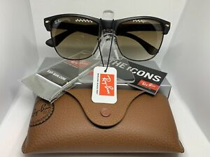 Ray-Ban RB4175 Clubmaster 878-51 Oversized Sunglasses Tortoise / Brown Gradient