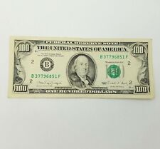 1990 One Hundred $100 Dollar Bill Federal Reserve Note Series **New York**
