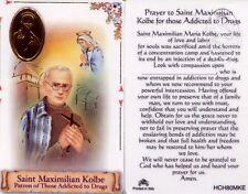 Prayer St. Maximilian Kolbe Card For Drug Addiction Sickness Laminated HCH80MKE
