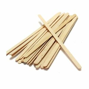 """1000 Sealed Wooden Stirrers Coffee Tea Hot Drinks Strong 178mm 7"""" Catering Craft"""
